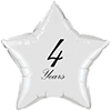 4 YEARS CLASSY BLACK STAR BALLOON PARTY SUPPLIES