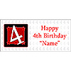 PERSONALIZED  4 YEAR OLD BANNER PARTY SUPPLIES