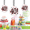 40! DANGLER DECORATION 3/PKG PARTY SUPPLIES