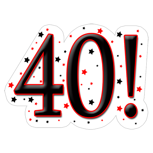 40! DECORATION (15X22 IN.) PARTY SUPPLIES