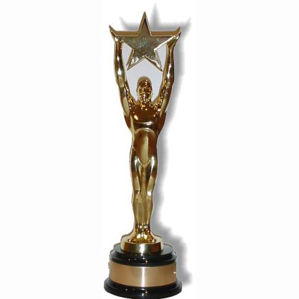 Click for larger picture of STAR AWARD LIFESIZE STANDUP PARTY SUPPLIES
