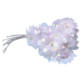 Click for larger picture of DISCONTINUED WHITE STAR FLOWER PARTY SUPPLIES