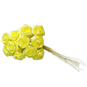Click for larger picture of DISCONTINUED YELLOW ROSES MEDIUM PARTY SUPPLIES