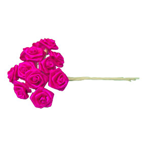 Click for larger picture of MEDIUM ROSE - HOT PINK PARTY SUPPLIES