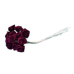 Click for larger picture of BURGUNDY ROSE MED 24 PARTY SUPPLIES