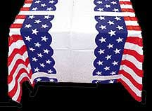 Click for larger picture of 40 IN.X150 FT. STARS/STRIPES TABLE ROLL PARTY SUPPLIES
