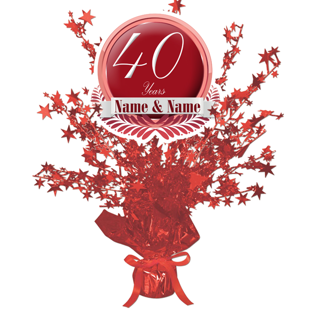 40th anniversary party supplies - 40th anniversary party decorations