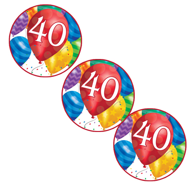 40TH BALLOON BLAST DECO FETTI PARTY SUPPLIES
