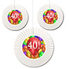 40TH BIRTHDAY BALLOON BLAST FAN DECORATI PARTY SUPPLIES