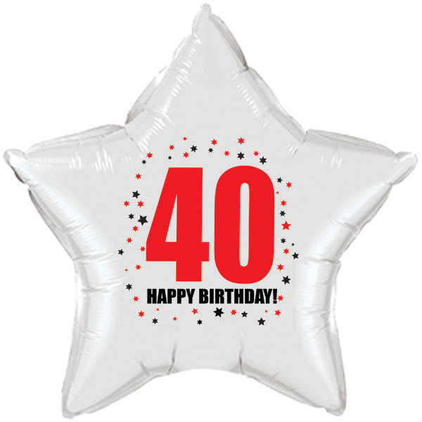 Click for larger picture of 40TH BIRTHDAY STAR BALLOON PARTY SUPPLIES