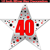40TH SILVER STAR DECORATION PARTY SUPPLIES