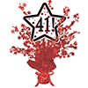 41! RED STAR CENTERPIECE PARTY SUPPLIES