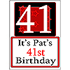 PERSONALIZED 41 YEAR OLD YARD SIGN PARTY SUPPLIES
