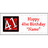PERSONALIZED 41 YEAR OLD BANNER PARTY SUPPLIES