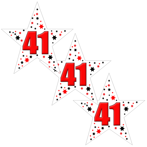 41ST BIRTHDAY STAR DECO FETTI PARTY SUPPLIES
