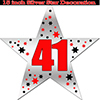 41ST SILVER STAR DECORATION PARTY SUPPLIES