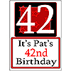 PERSONALIZED 42 YEAR OLD YARD SIGN PARTY SUPPLIES
