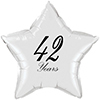 42 YEARS CLASSY BLACK STAR BALLOON PARTY SUPPLIES