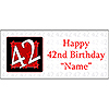 PERSONALIZED 42 YEAR OLD BANNER PARTY SUPPLIES