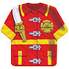 FIREFIGHTER SHAPED PLATE 9IN. SHIRT PARTY SUPPLIES
