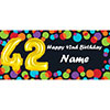 BALLOON 42ND BIRTHDAY CUSTOMIZED BANNER PARTY SUPPLIES