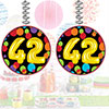42ND BIRTHDAY BALLOON DANGLER PARTY SUPPLIES