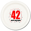 42ND BIRTHDAY DINNER PLATE 8-PKG PARTY SUPPLIES