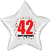 42ND BIRTHDAY STAR BALLOON PARTY SUPPLIES