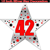 42ND SILVER STAR DECORATION PARTY SUPPLIES