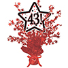 43! RED STAR CENTERPIECE PARTY SUPPLIES