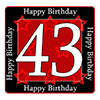 43RD BIRTHDAY COASTER PARTY SUPPLIES