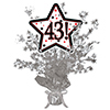 43! SILVER STAR CENTERPIECE PARTY SUPPLIES