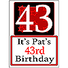 PERSONALIZED 43 YEAR OLD YARD SIGN PARTY SUPPLIES