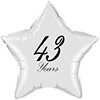 43 YEARS CLASSY BLACK STAR BALLOON PARTY SUPPLIES