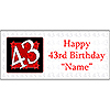 PERSONALIZED 43 YEAR OLD BANNER PARTY SUPPLIES