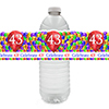 43RD BALLOON BLAST WATER BOTTLE LABEL PARTY SUPPLIES