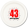 43RD BIRTHDAY DINNER PLATE 8-PKG PARTY SUPPLIES