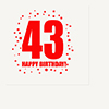 43RD BIRTHDAY LUNCHEON NAPKIN 16-PKG PARTY SUPPLIES