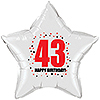 43RD BIRTHDAY STAR BALLOON PARTY SUPPLIES