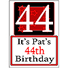 PERSONALIZED 44 YEAR OLD YARD SIGN PARTY SUPPLIES