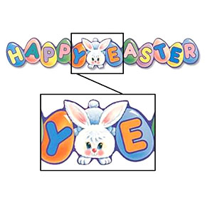 Click for larger picture of HAPPY EASTER EXPANDABLE (35IN.) PARTY SUPPLIES