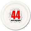 44TH BIRTHDAY DINNER PLATE 8-PKG PARTY SUPPLIES