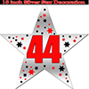 44TH SILVER STAR DECORATION PARTY SUPPLIES