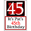 PERSONALIZED 45 YEAR OLD YARD SIGN PARTY SUPPLIES