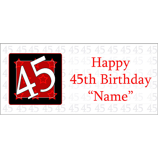 45th Happy Birthday Party Supplies