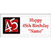 PERSONALIZED  45 YEAR OLD BANNER PARTY SUPPLIES
