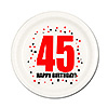 45TH BIRTHDAY DESSERT PLATE 8-PKG PARTY SUPPLIES