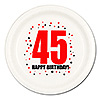 45TH BIRTHDAY DINNER PLATE 8-PKG PARTY SUPPLIES