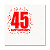 45TH BIRTHDAY LUNCHEON NAPKIN 16-PKG PARTY SUPPLIES