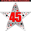 45TH SILVER STAR DECORATION PARTY SUPPLIES
